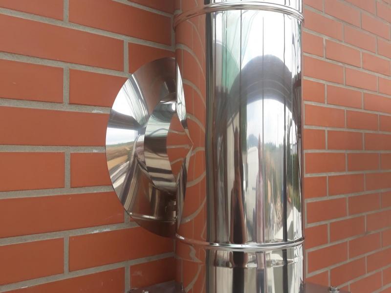 Třívrstvý kovový komín EKA pro krbovou vložku - Litovel
